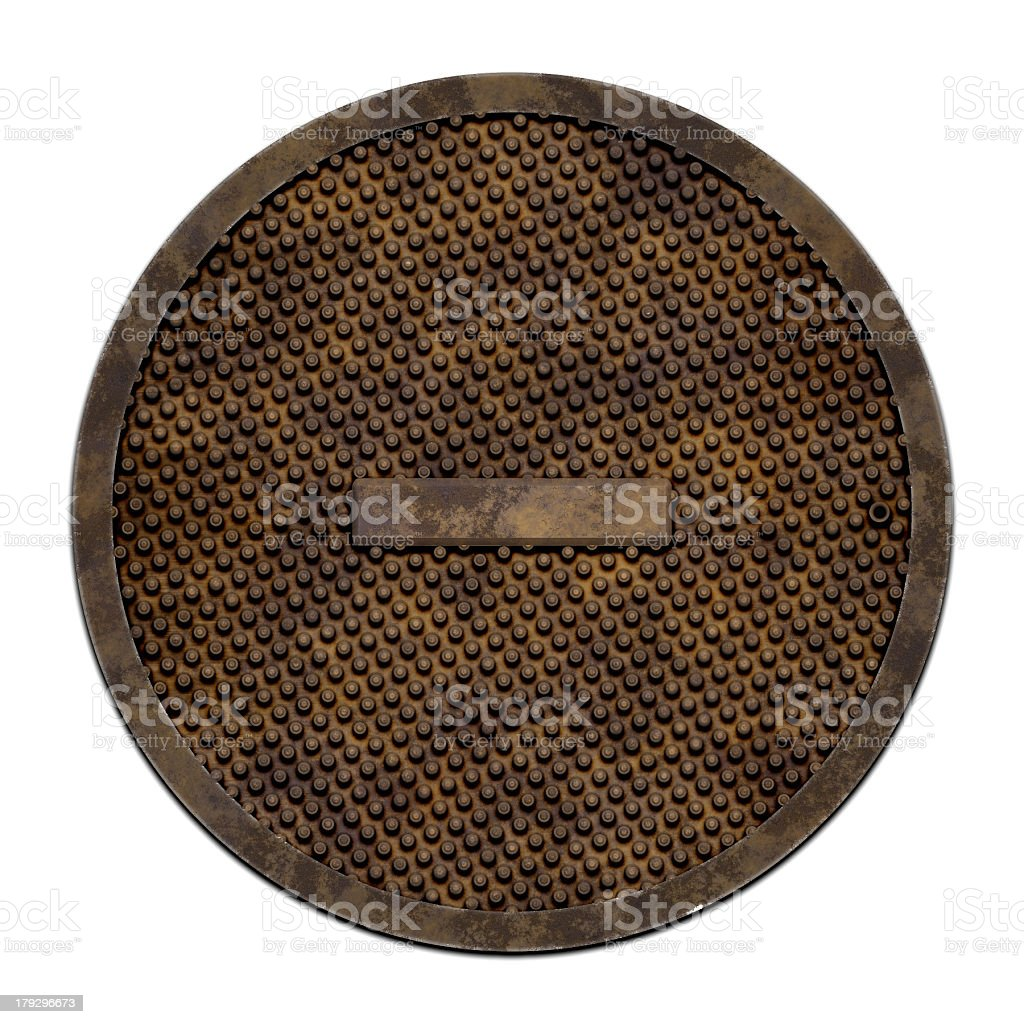 City sewer cover (Manhole serie) stock photo
