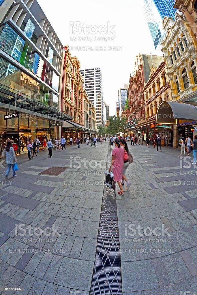 City Shopping royalty-free stock photo