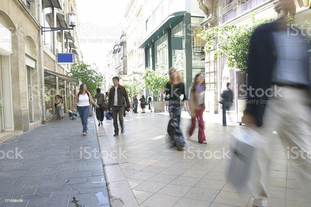 City shopping stock photo