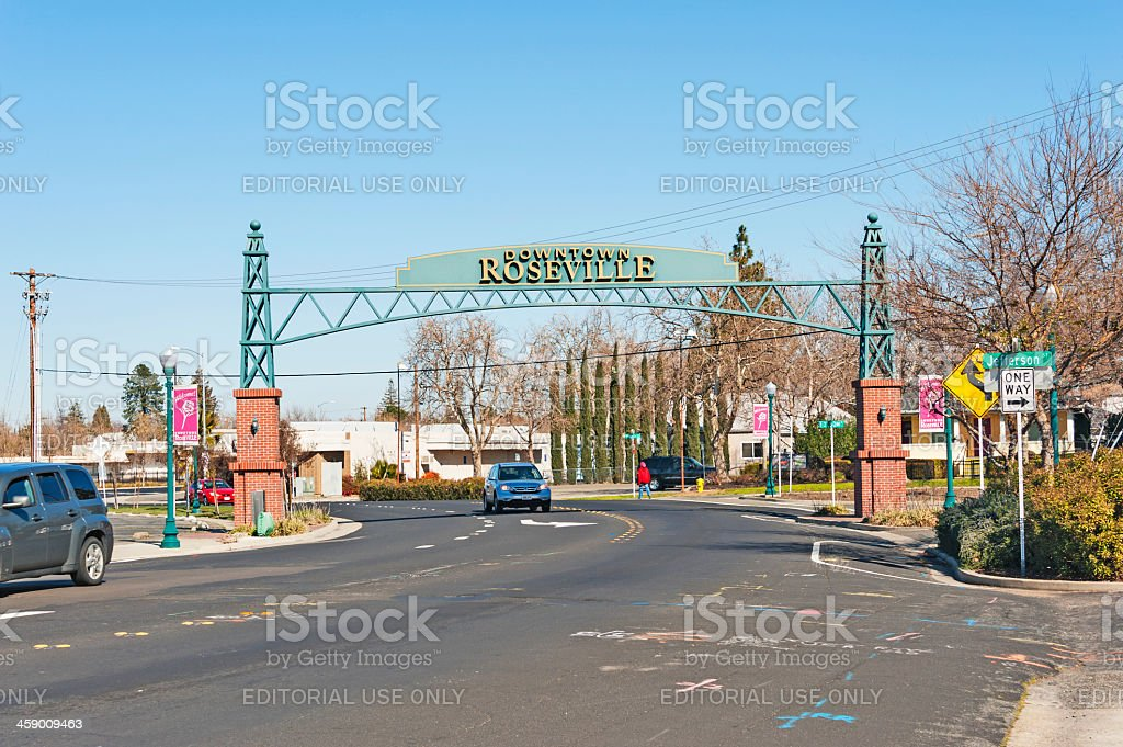 City Sign and Automobiles royalty-free stock photo