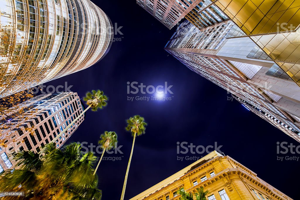 City sky stock photo