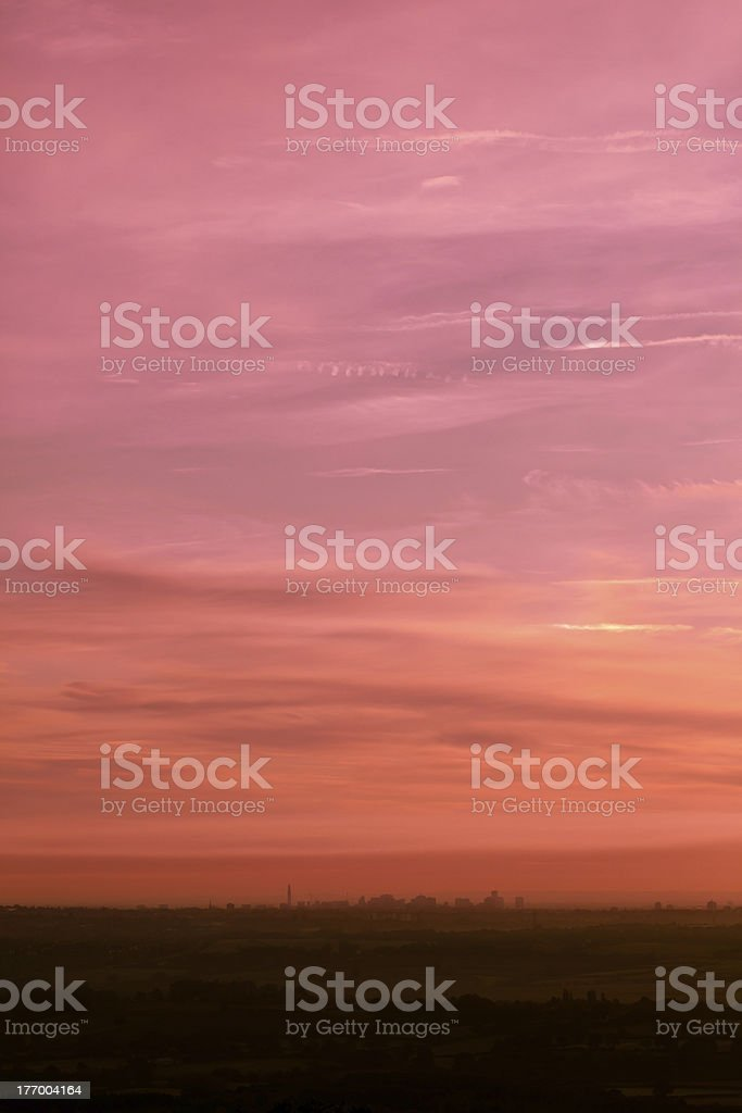 City Skyline at Dawn royalty-free stock photo