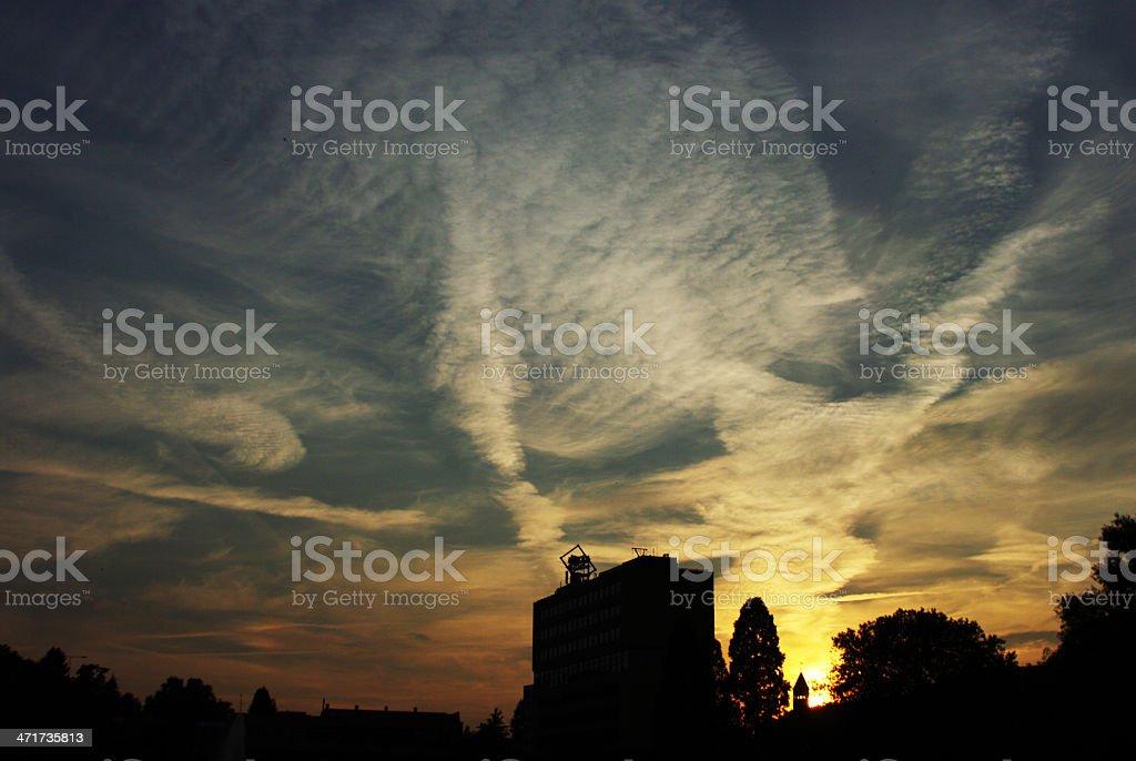 City skyline at sunset royalty-free stock photo