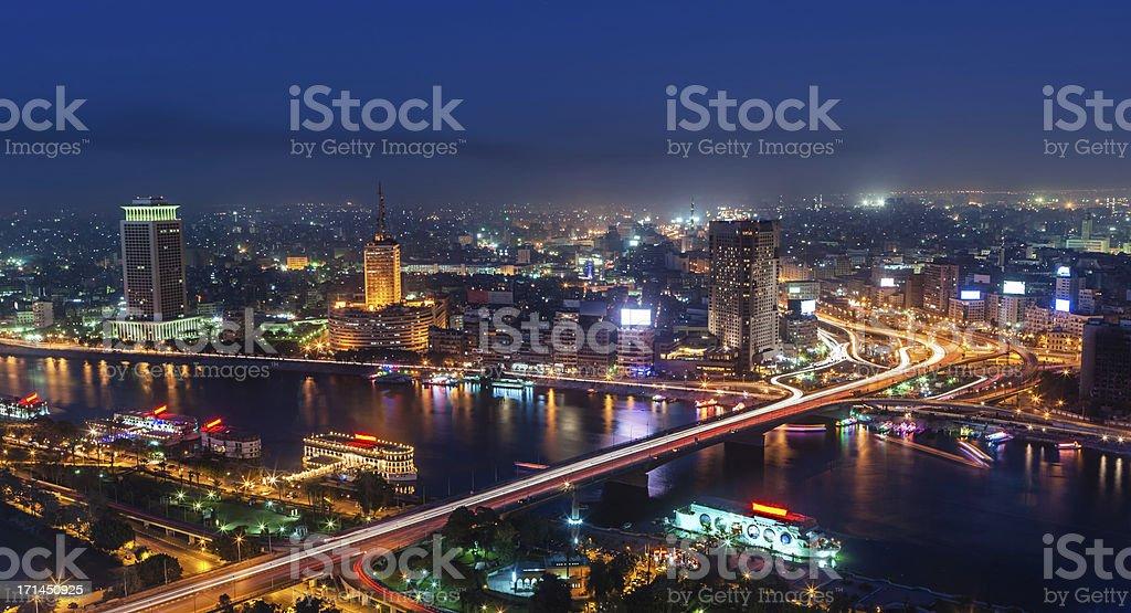 City skyline - Cairo at dusk royalty-free stock photo