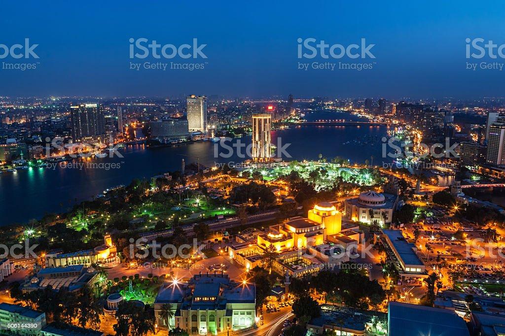 City skyline - Cairo at dusk stock photo