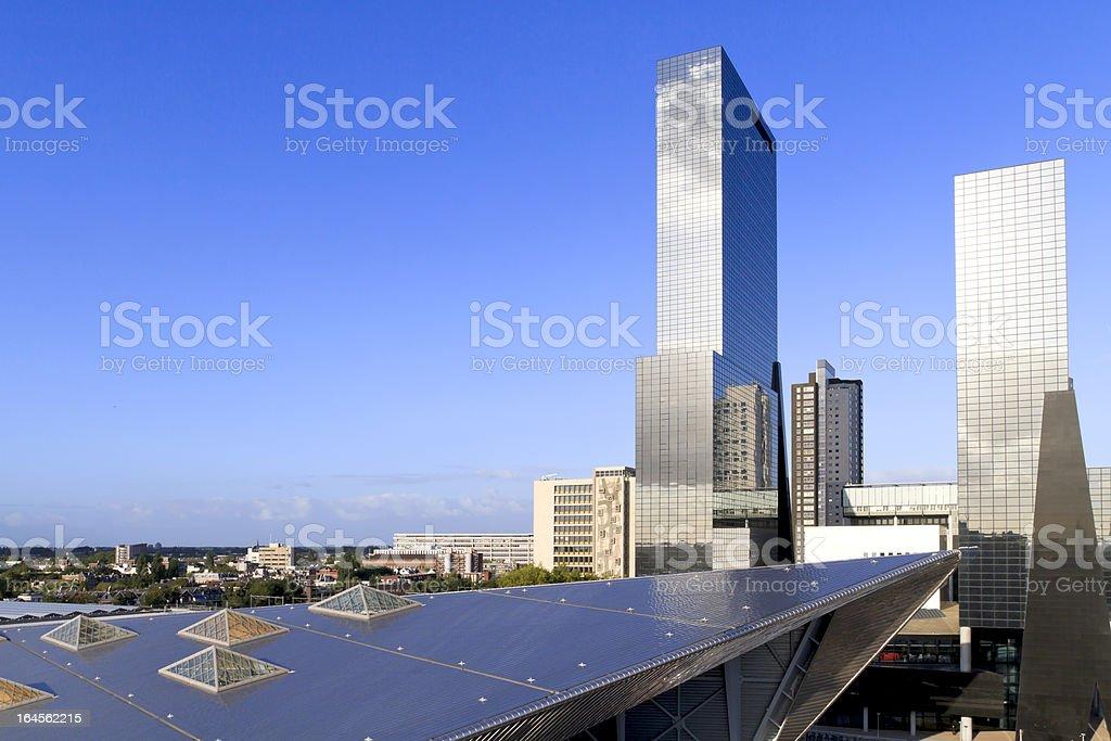 City skyline in Rotterdam royalty-free stock photo