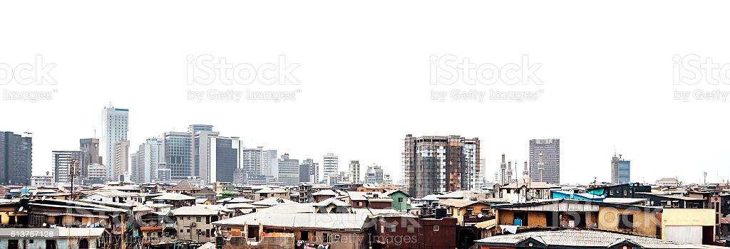 City skyline - Lagos, Nigeria. stock photo