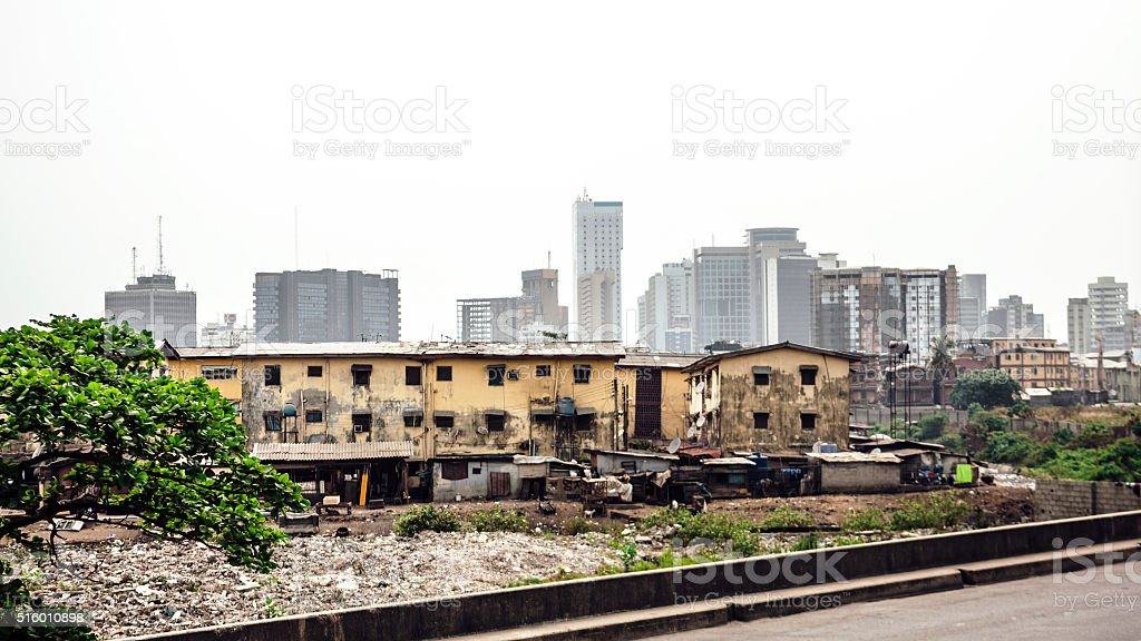 City skyline - Lagos, Nigeria. stock photo