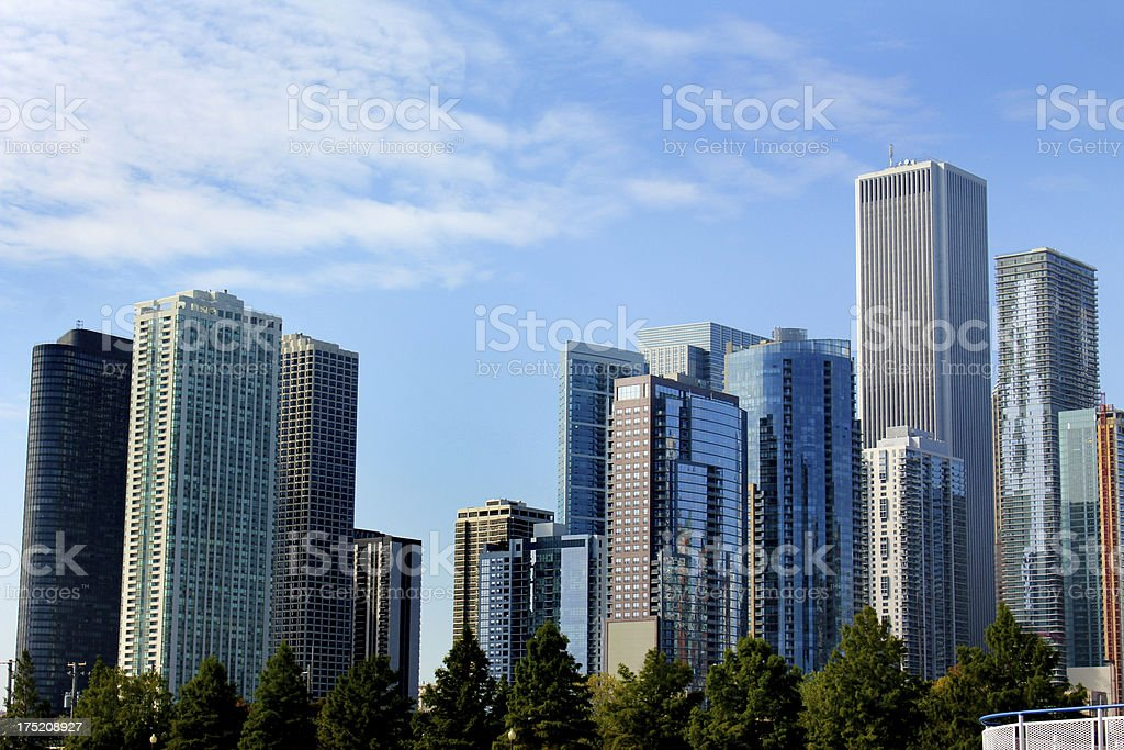 City Skyline of Downtown Chicago, USA royalty-free stock photo