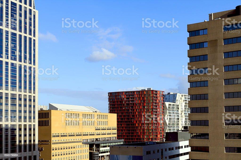 City skyline of Rotterdam center royalty-free stock photo