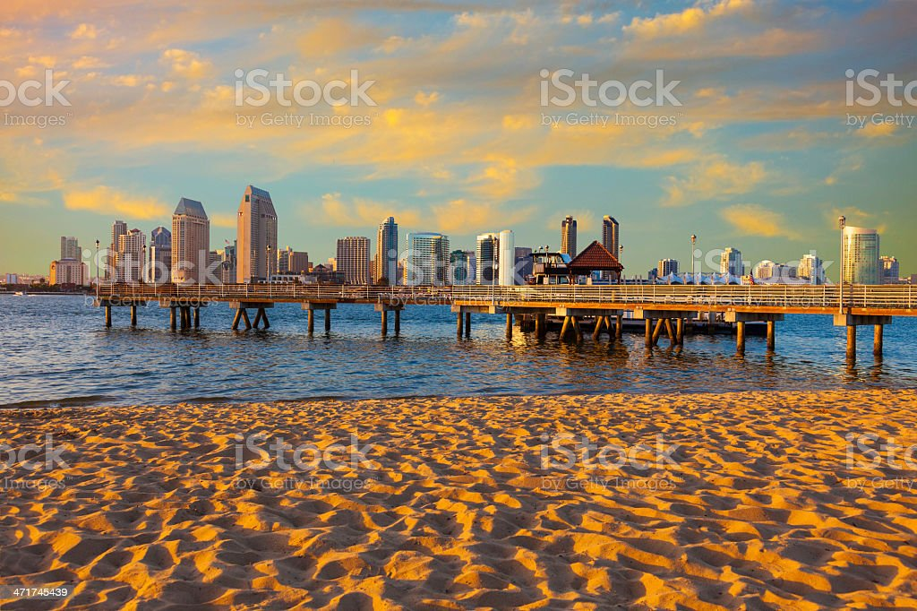 City Skyline Of San Diego, California stock photo