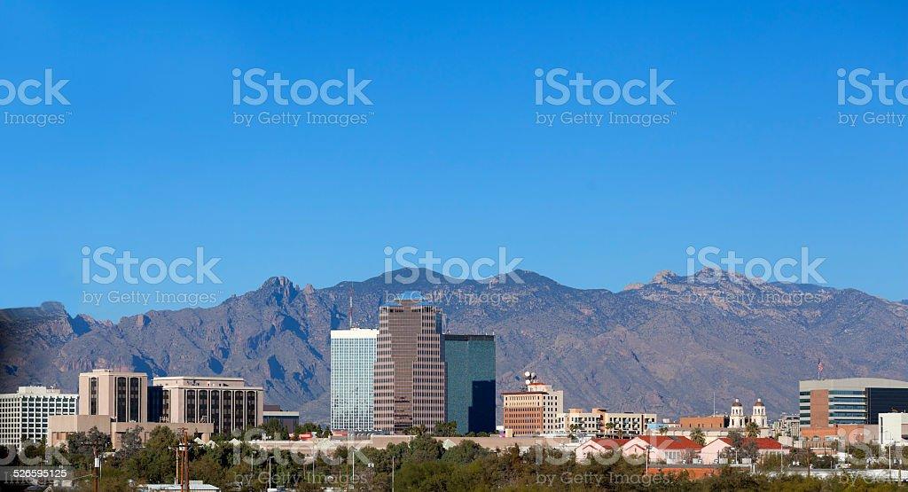 City skyline, Tucson, AZ stock photo