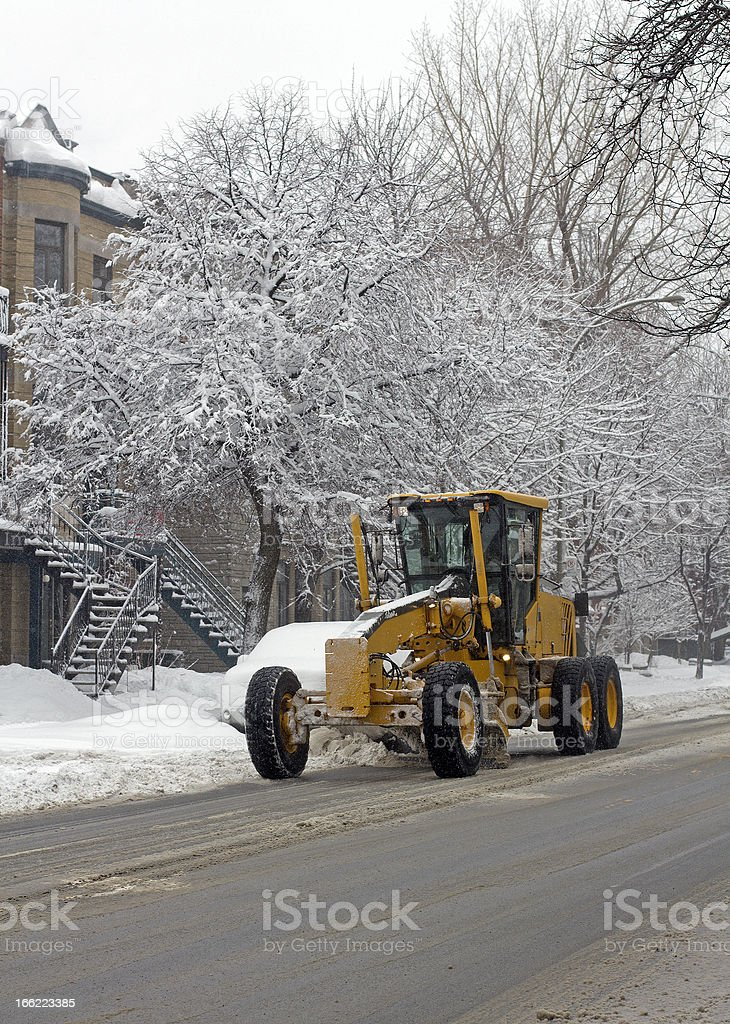 city snow cleaning royalty-free stock photo