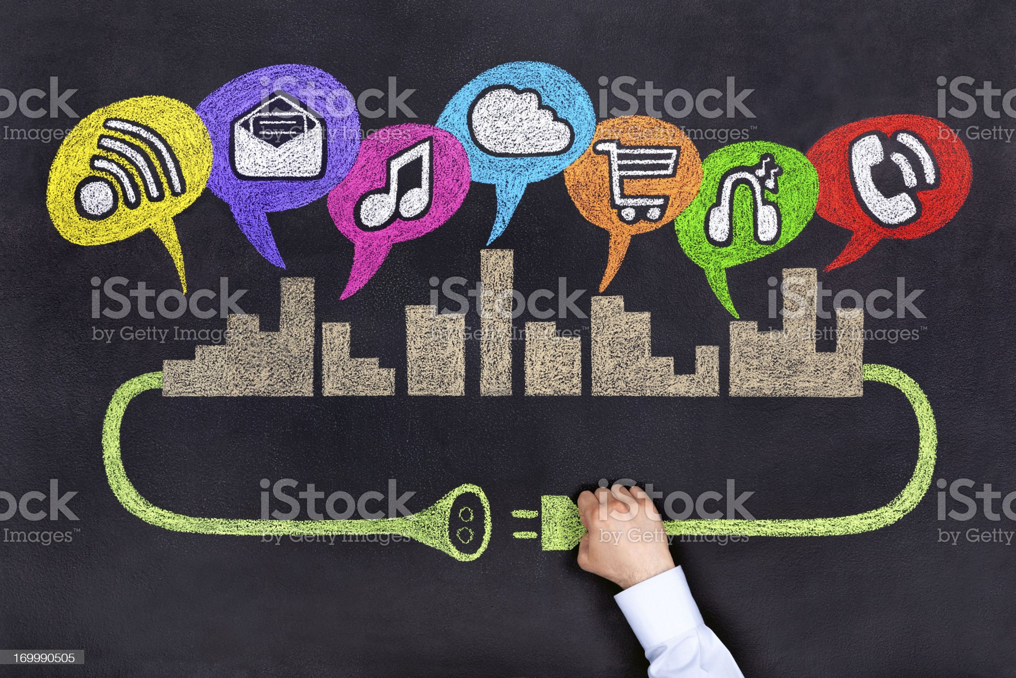 City Socical Network royalty-free stock photo