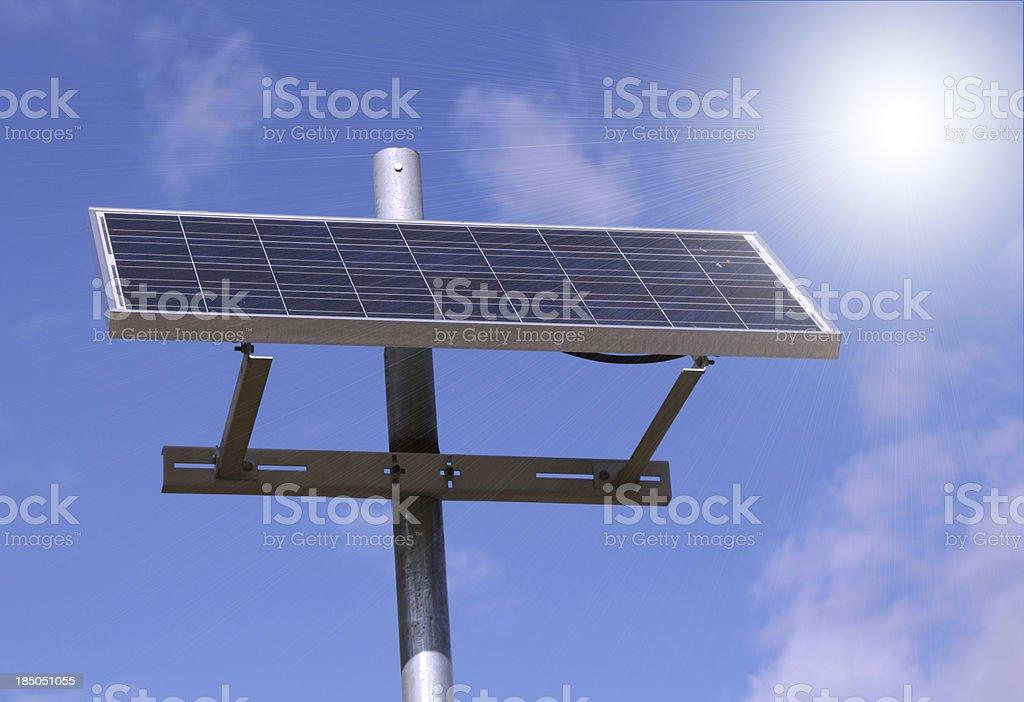 City Solar Panel royalty-free stock photo