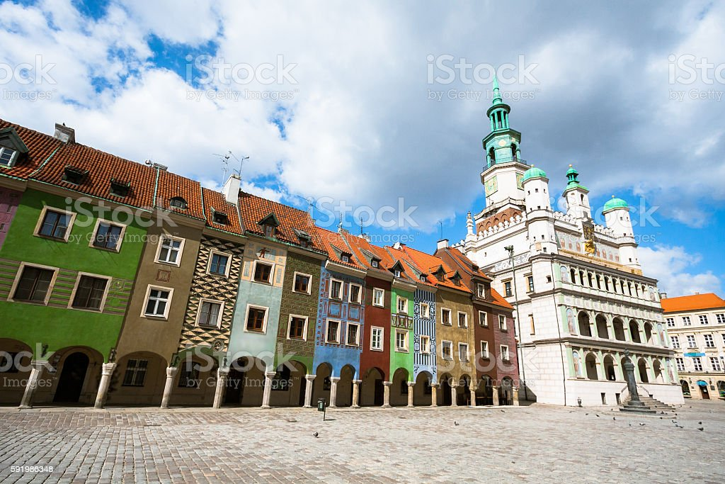 City Square in Poznan stock photo