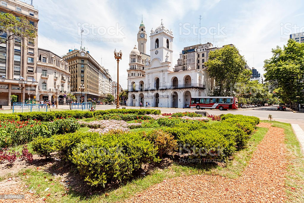 City square of Buenos Aires stock photo