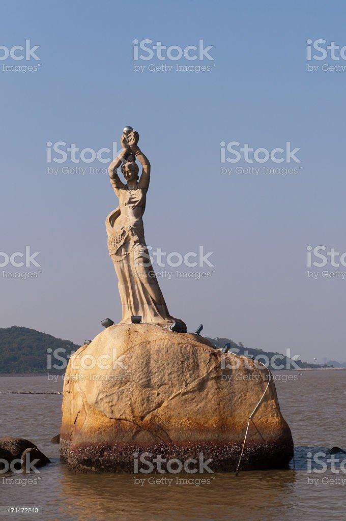City statue, Zhuhai, China stock photo