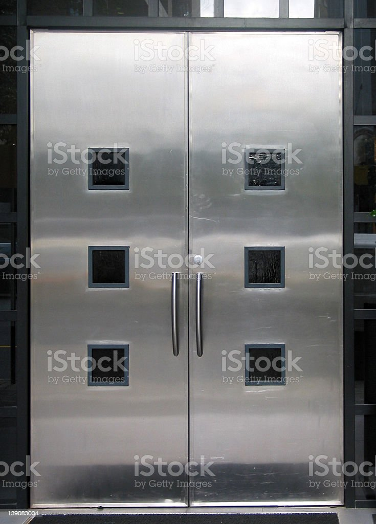 city - steel doors royalty-free stock photo