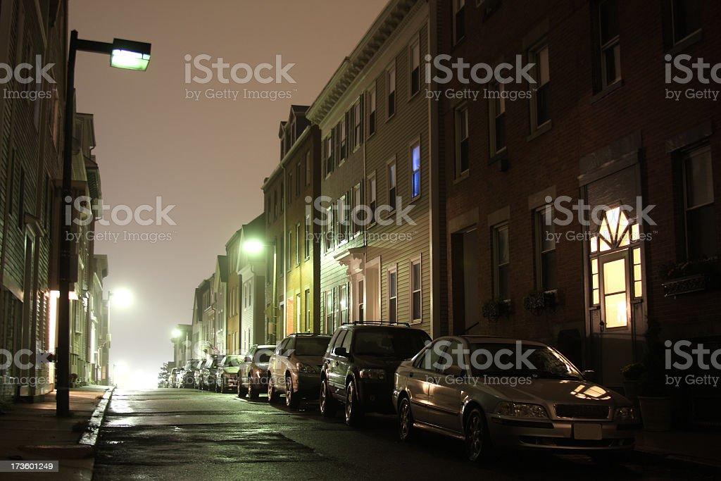 City Steet at Night royalty-free stock photo