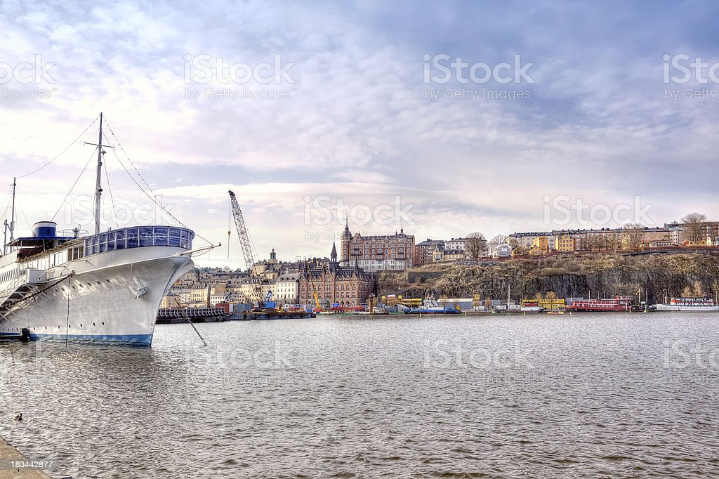 City Stockholm. HDR royalty-free stock photo