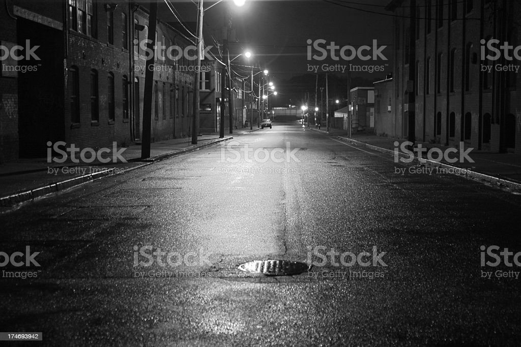 City Street Black and White stock photo