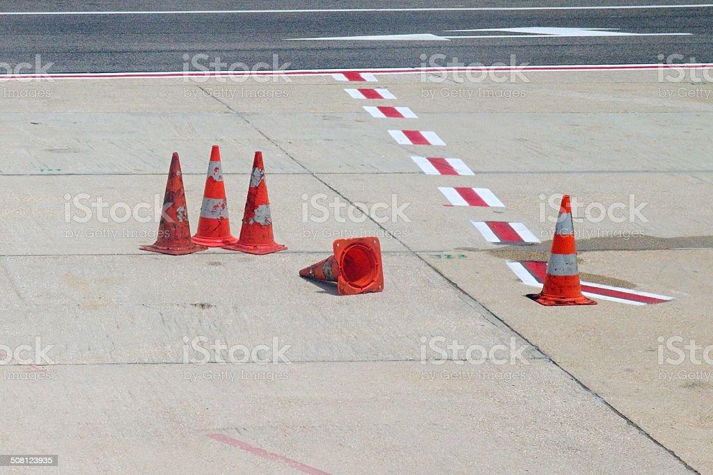 City street cones stock photo