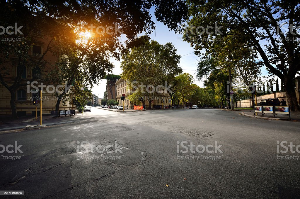 City Street Crossroad stock photo