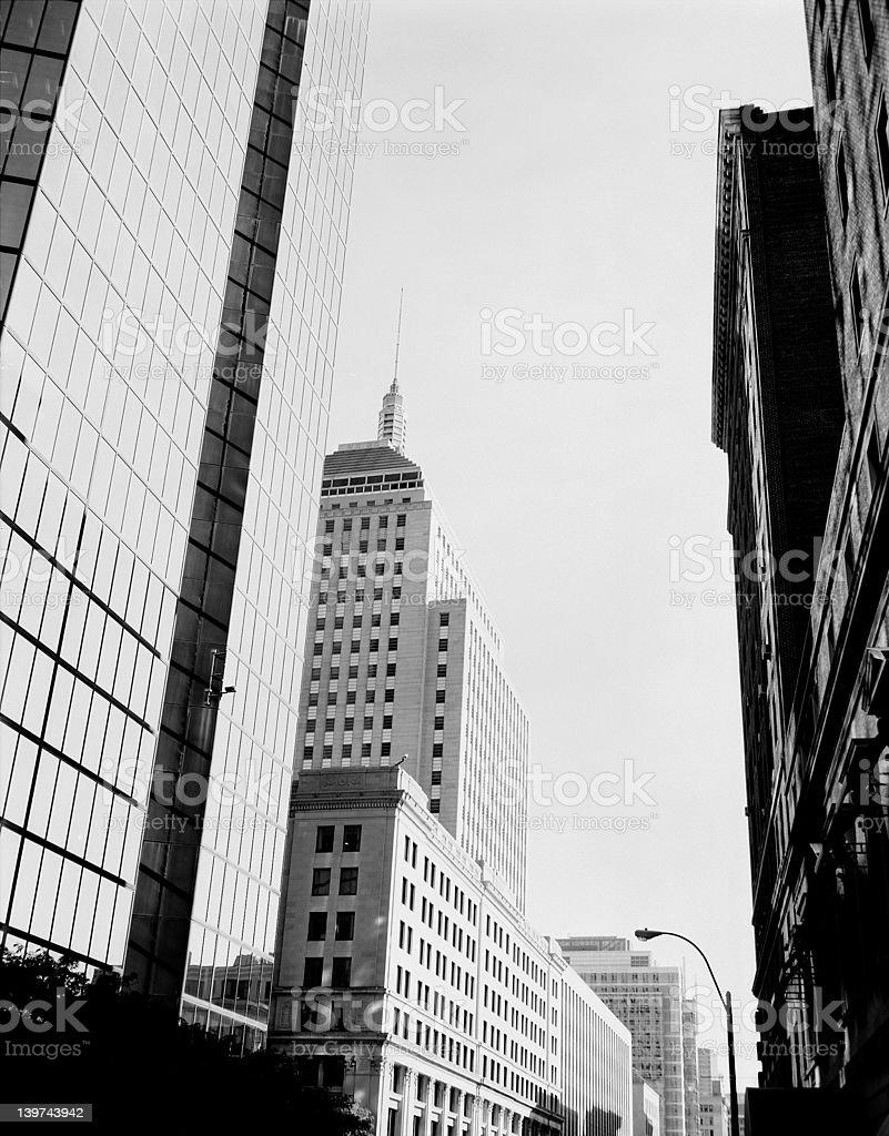 City Street in Boston Massachusetts royalty-free stock photo