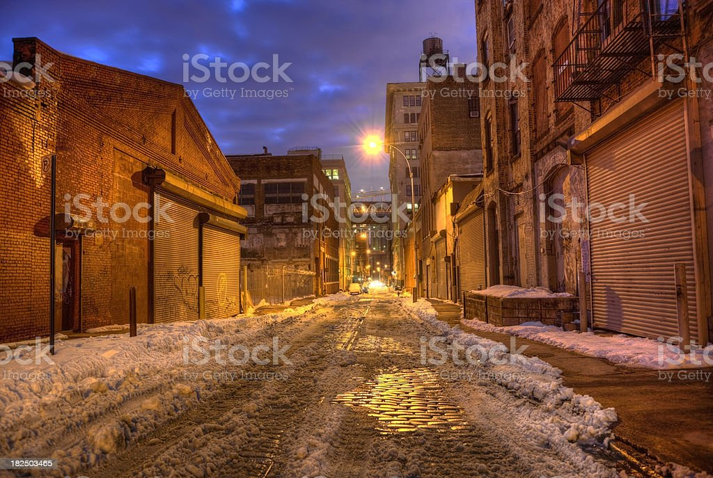 City Street in Brooklyn royalty-free stock photo