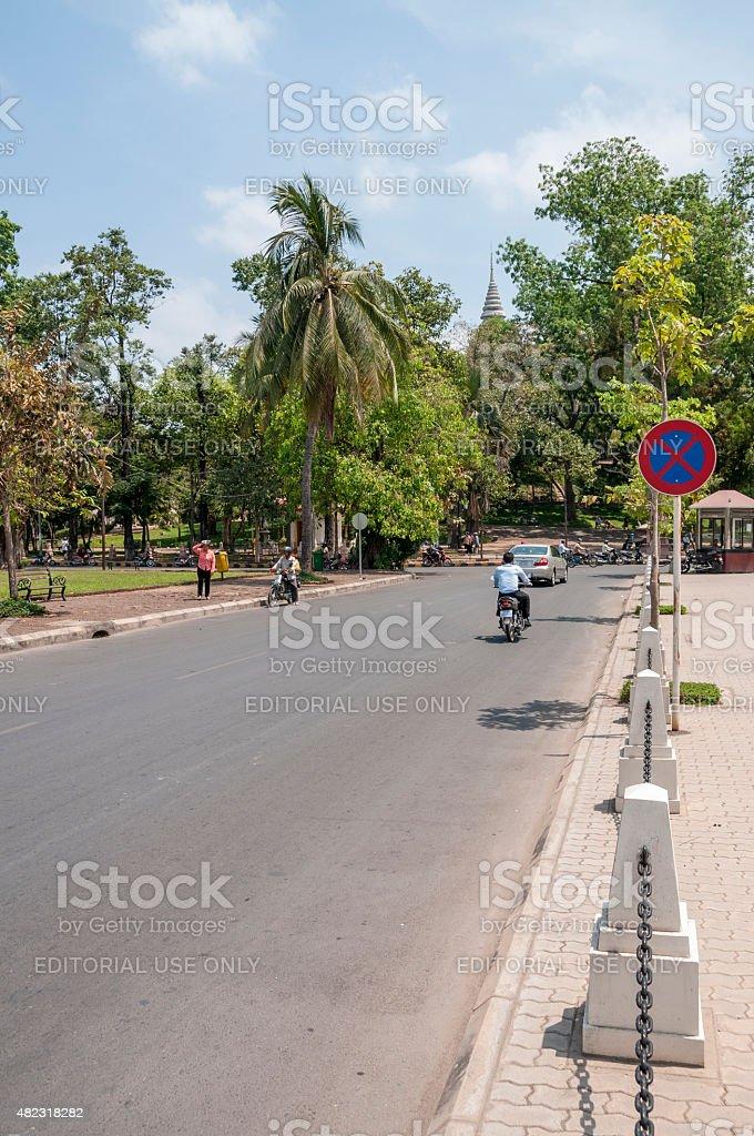 City Street In Cambodia stock photo