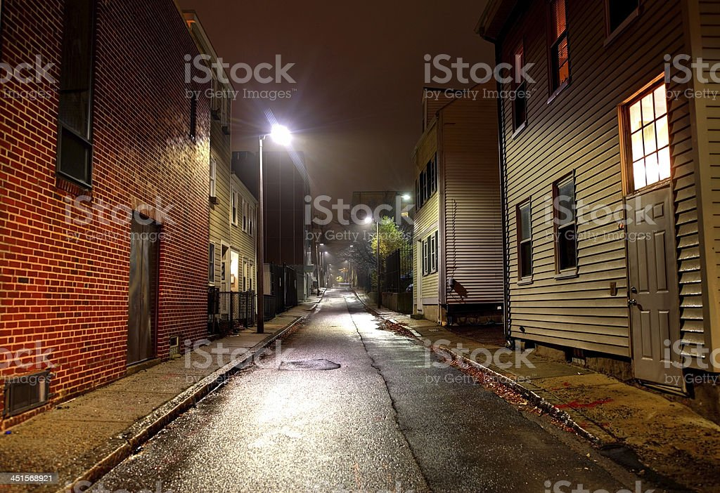 City street in South Boston stock photo