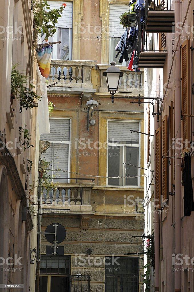 City Street of cagliari royalty-free stock photo
