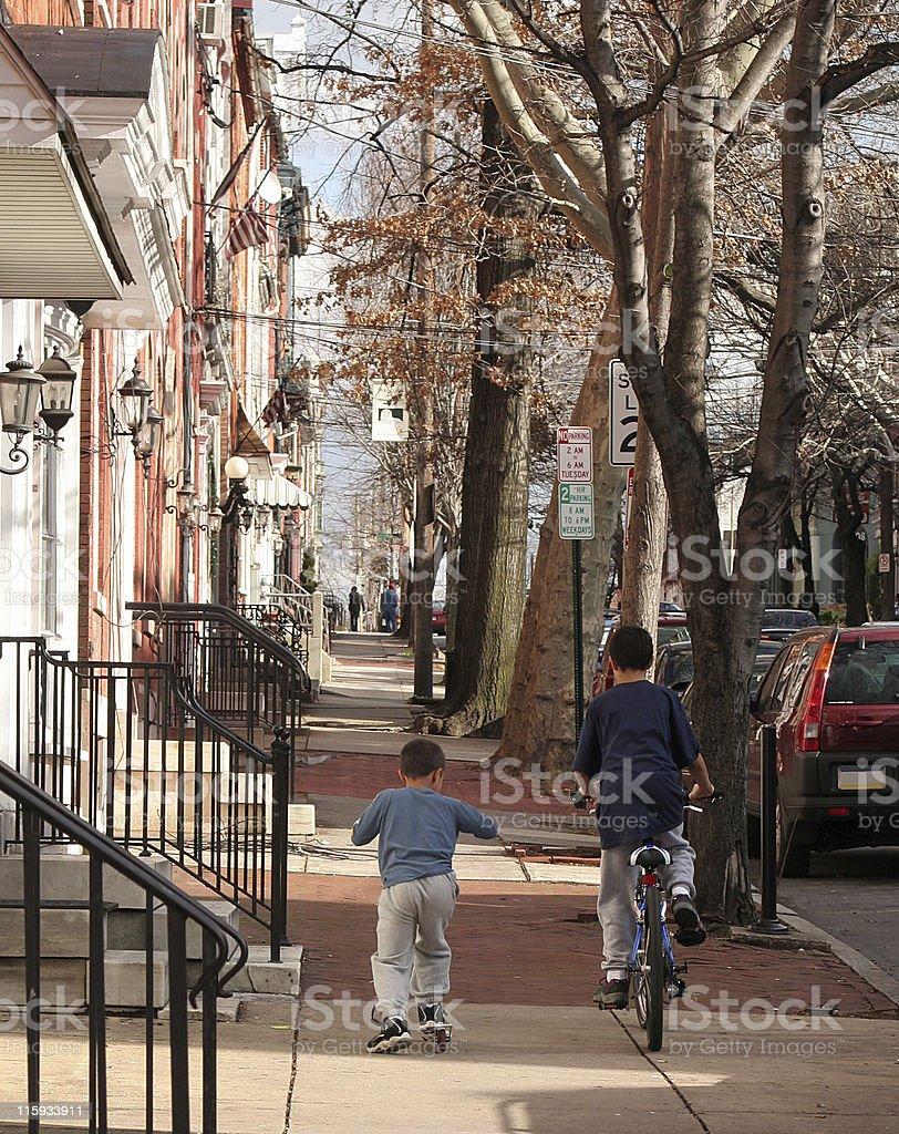 City Street Recreation royalty-free stock photo