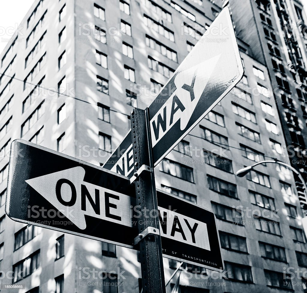 City street signs stock photo