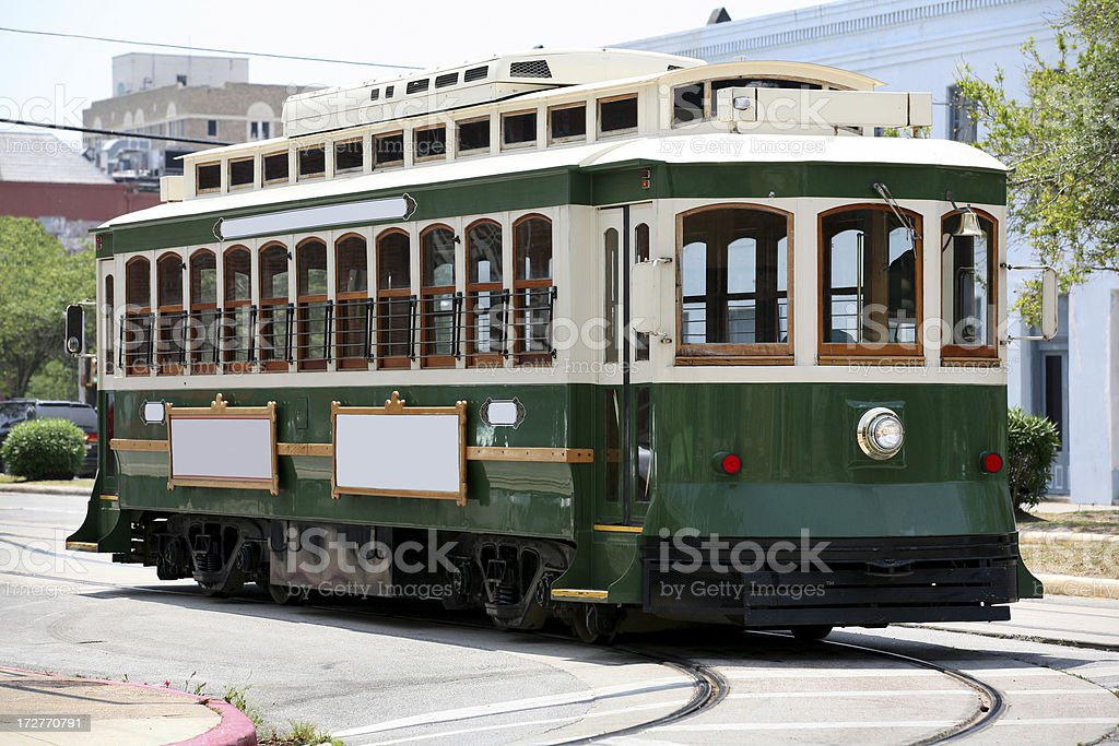 City Street Trolley royalty-free stock photo