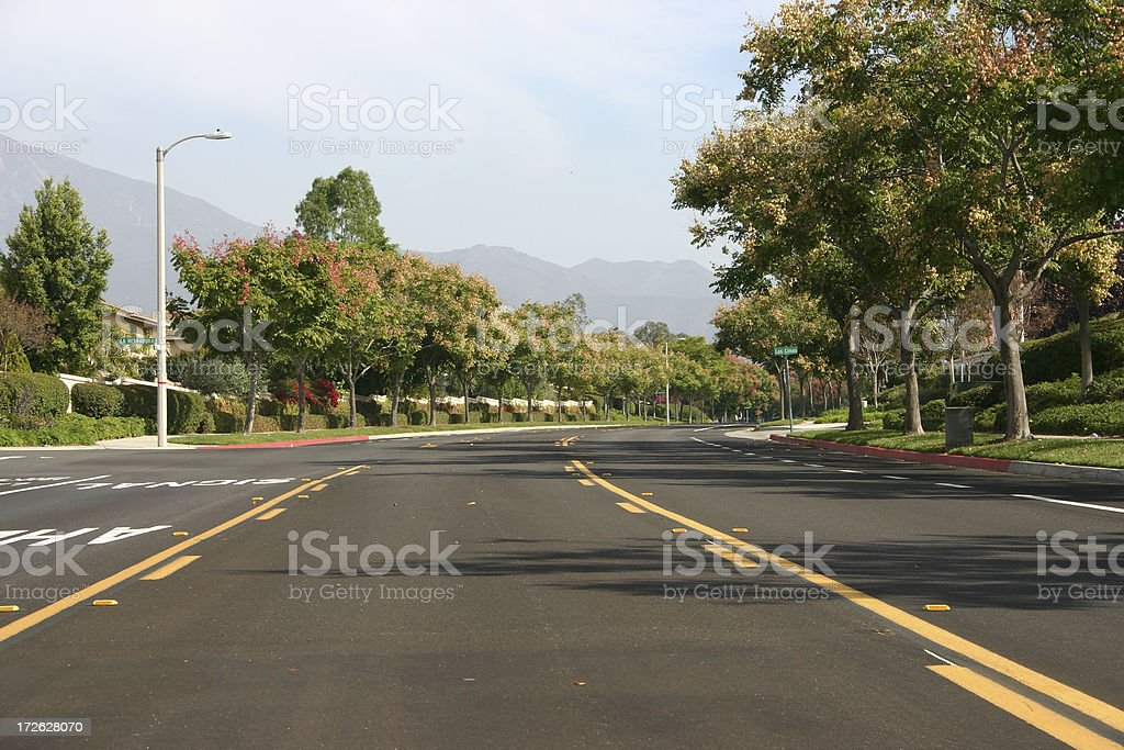 city street with no cars or traffic royalty-free stock photo