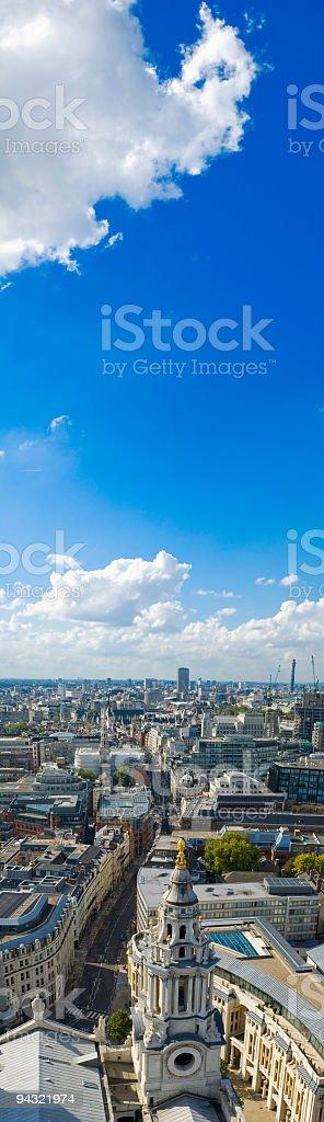 City streets, blue sky royalty-free stock photo