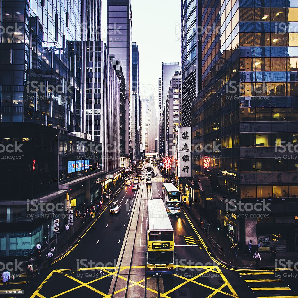 City Streets of Hong Kong stock photo