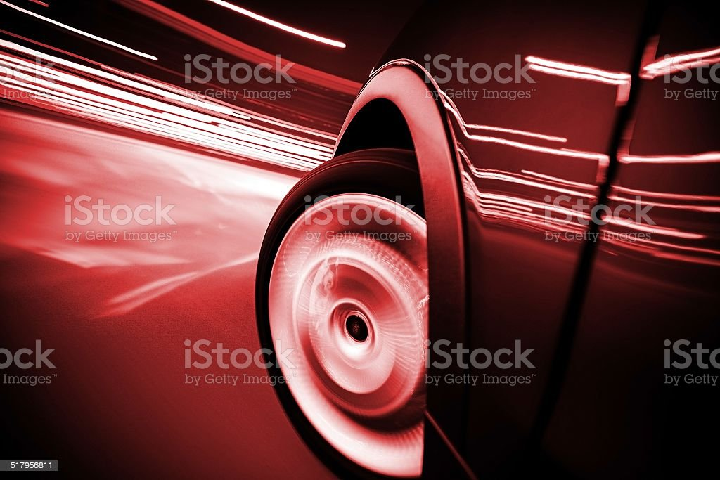 City Streets Ride Car in Motion stock photo