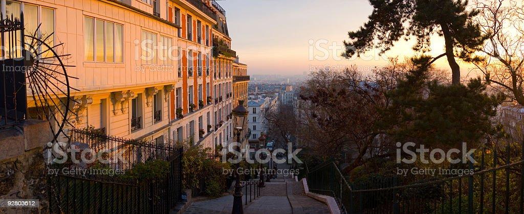 City sunrise royalty-free stock photo