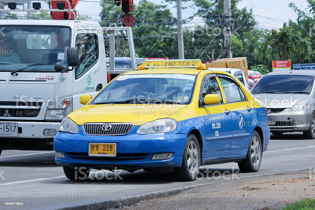 City taxi chiangmai stock photo