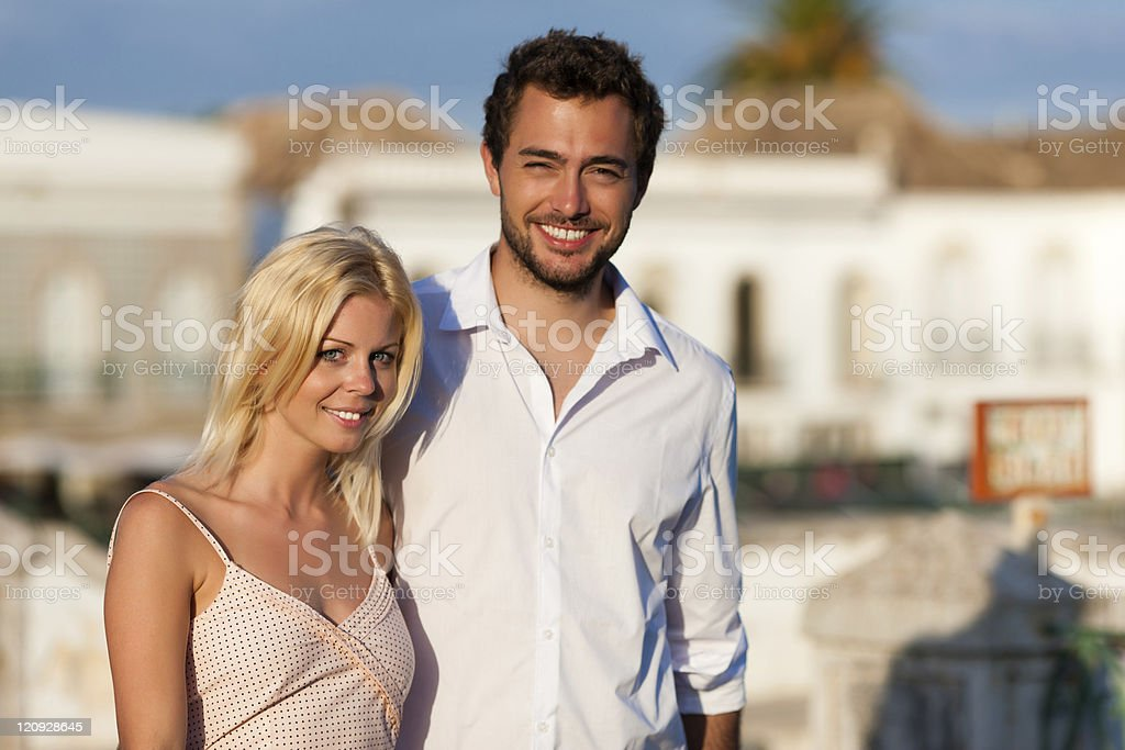 City tourism - couple in vacation royalty-free stock photo