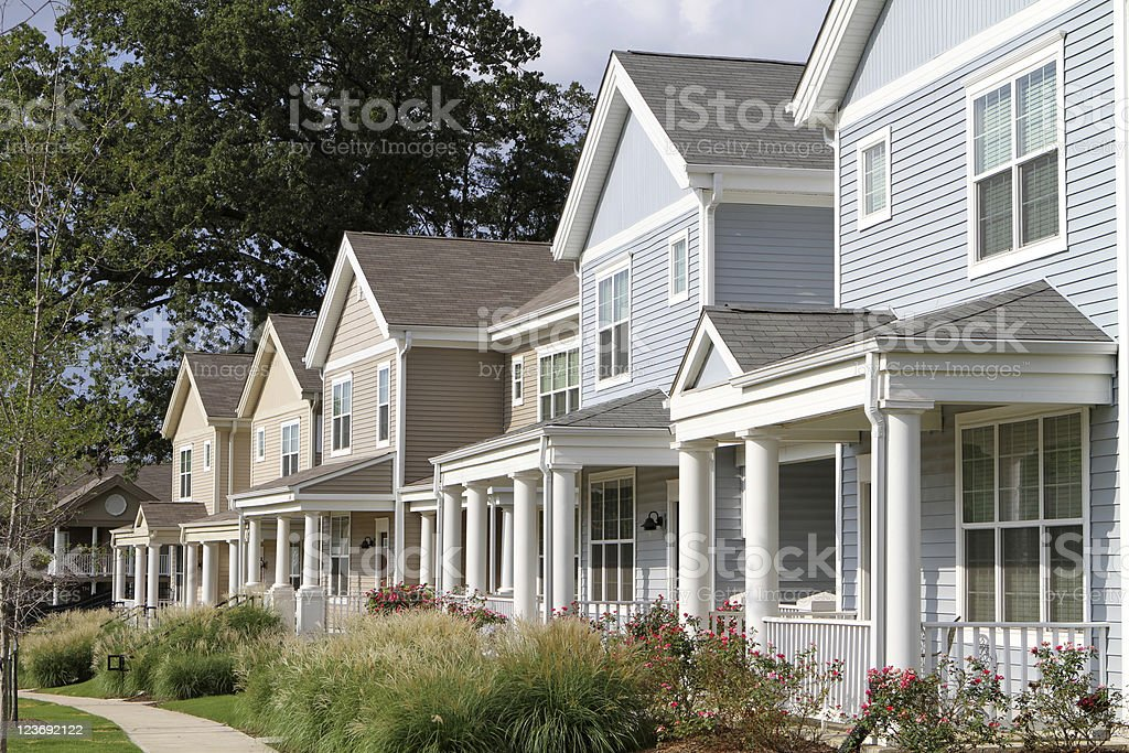 City Townhomes stock photo