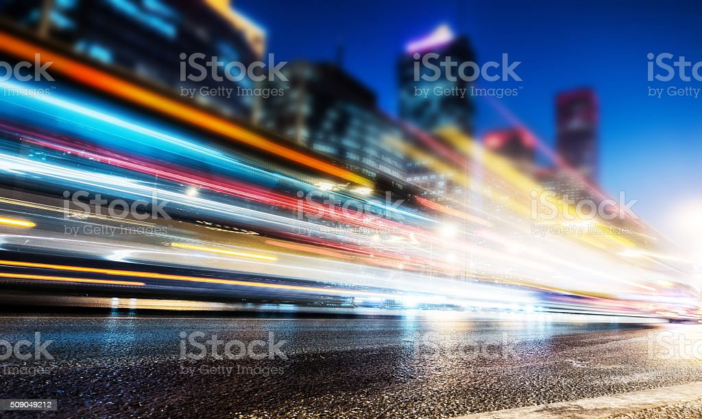 City traffic at night stock photo