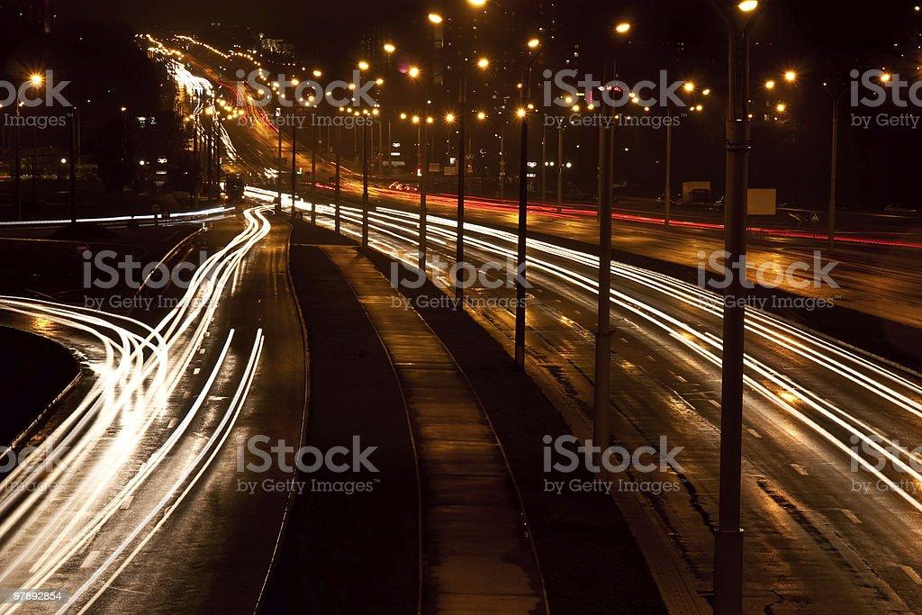 City Traffic at night royalty-free stock photo