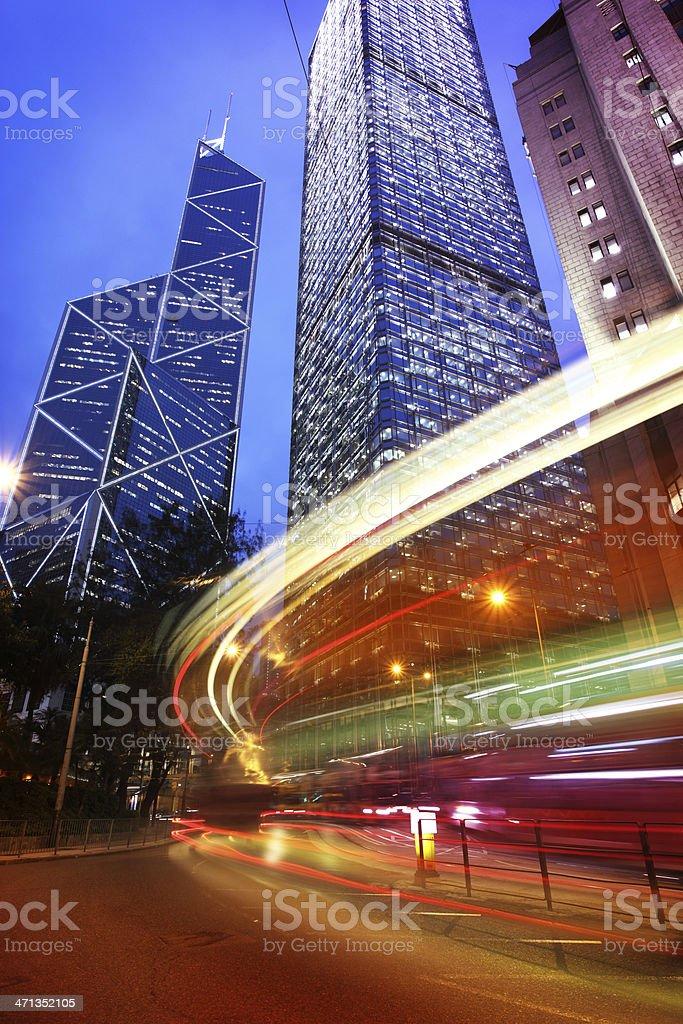 City Traffic Light Trail royalty-free stock photo