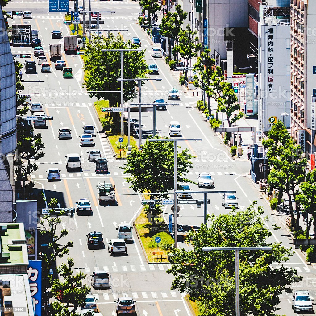City traffic. Nagoya, Japan. stock photo