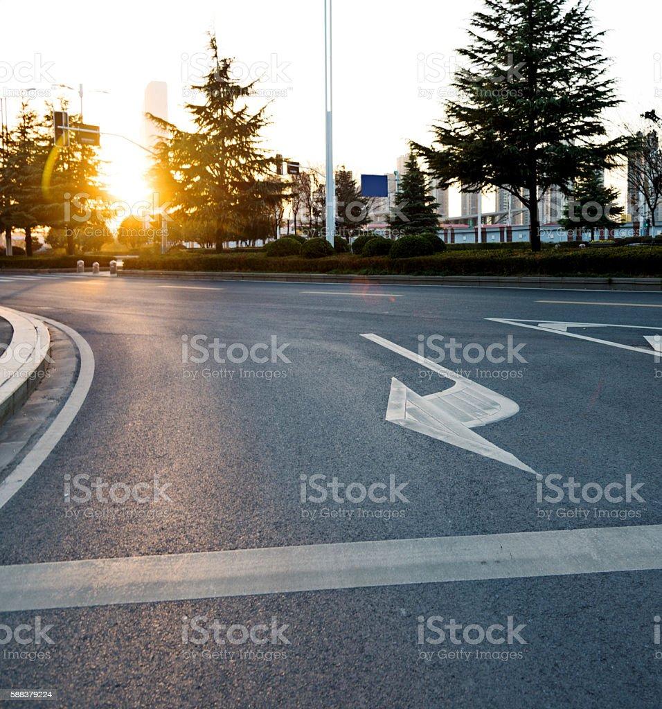City traffic road stock photo