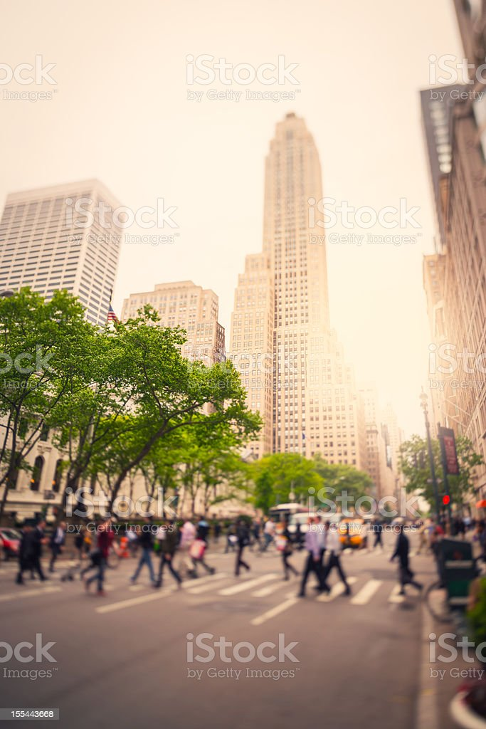 NY City Traffic, Tilt Shift royalty-free stock photo